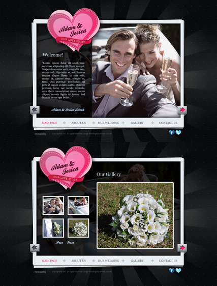 Our Wedding Website Design
