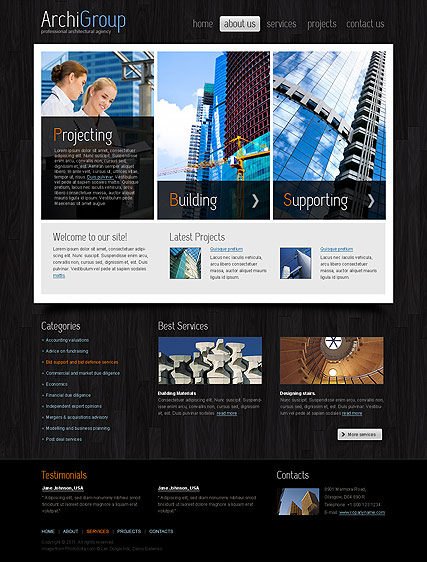 Architecture Design Website Design