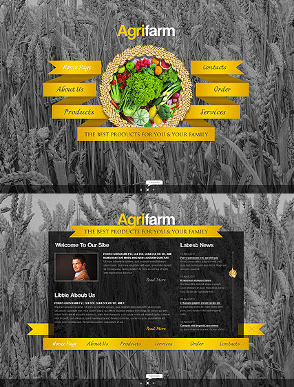 Agricultural Farm Website Design