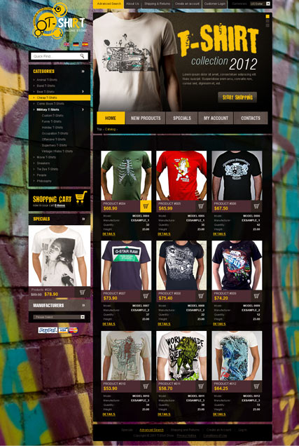 T-Shirts 2.3ver Website Design