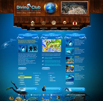 Diving Club Website Design