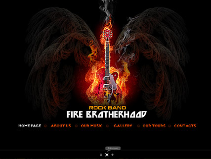 Rock Band Website Design