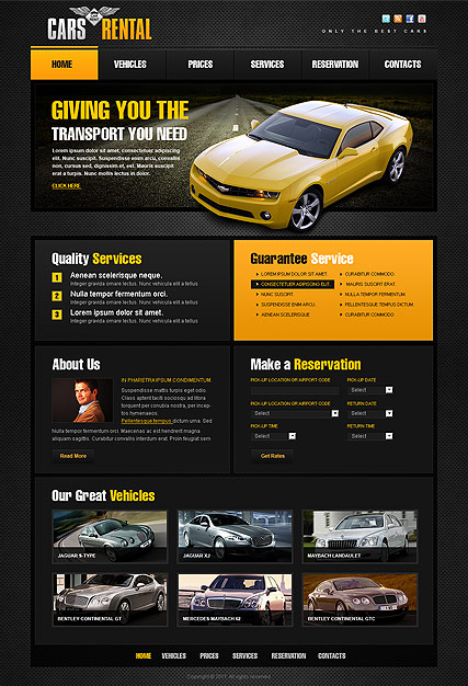 Car Dealer Website Template Free
