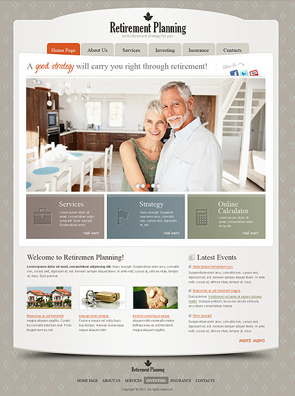 Retirement Planning Website Design