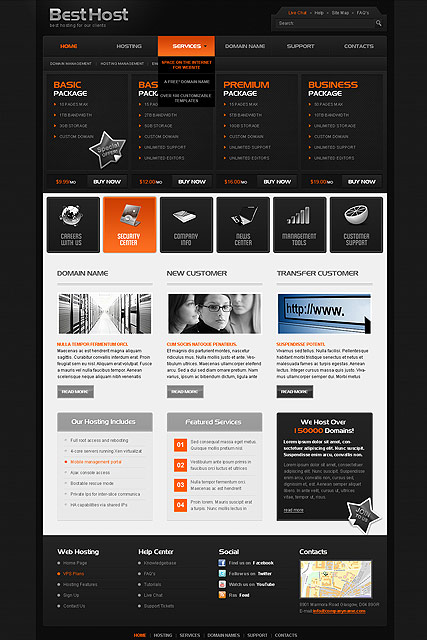Best Hosting Website Design