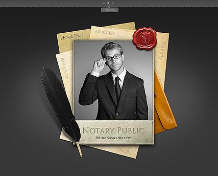 Notary Public Website Design