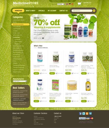 Medicine Store 2.3 ver Website Design