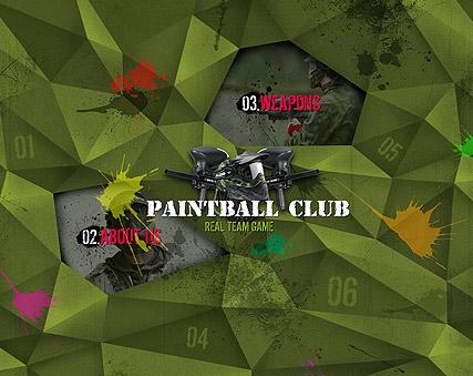 Paintball Club Website Design