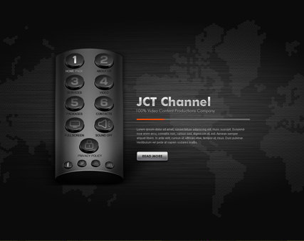 TV Channel Website Design