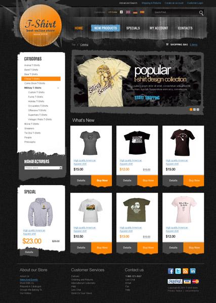 T-Shirt 2.3 ver Website Design