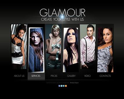 Glamour Fashion Website Design