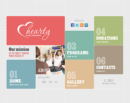 Charity Organization Website Design