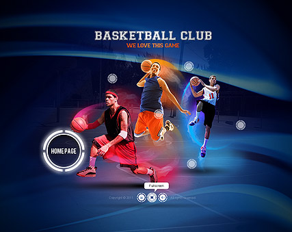 Basketball club Website Design