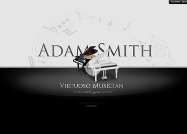Virtuoso Musician Website Design