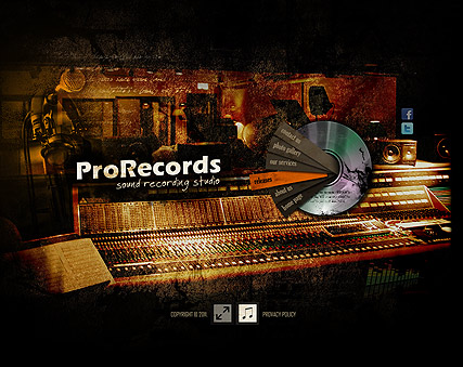 Sound Records Website Design