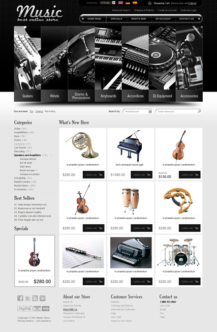 Music instrument v2.3 Website Design