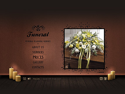 Funeral Service Website Design