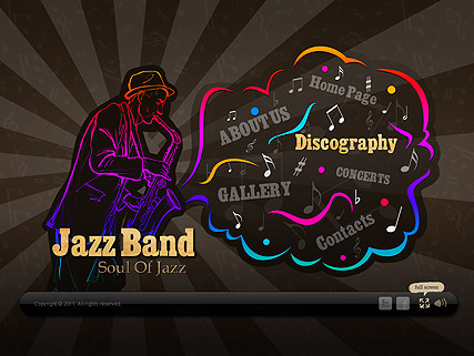 Jazz Band Website Design