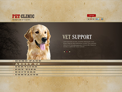 Pet Clinic Website Design