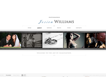 White Gallery Website Design