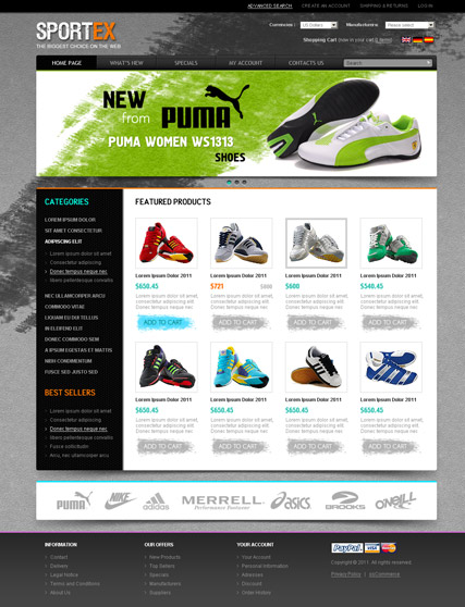 SporTex v2.3 Website Design