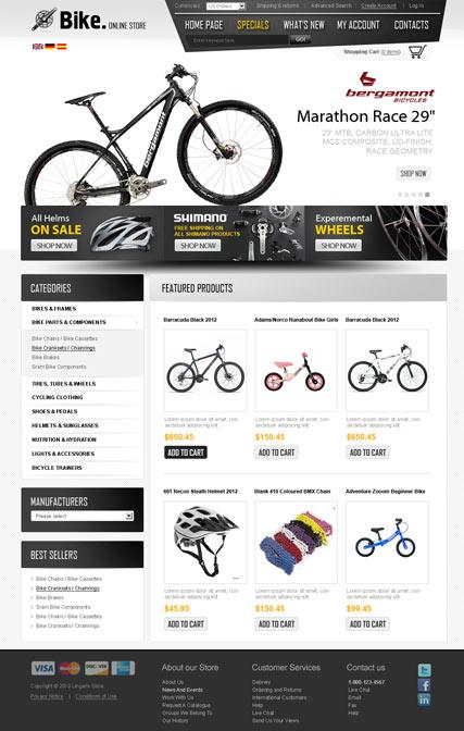 Bike Store v2.3 Website Design