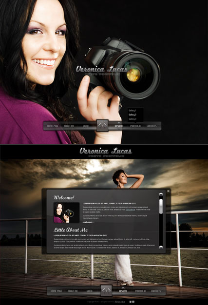 Photo Portfolio Website Design