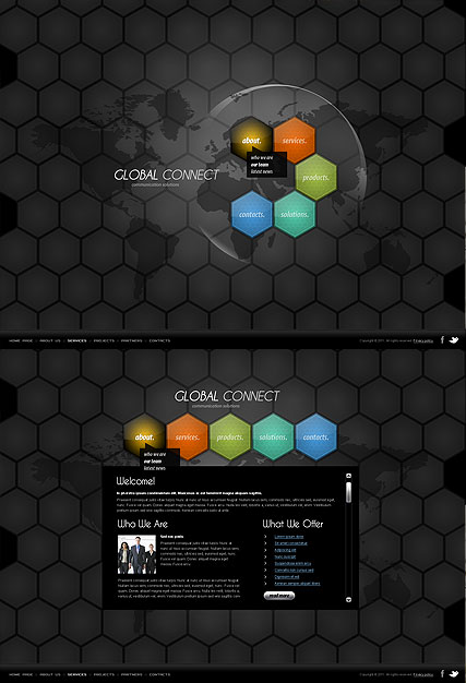 Communication Html5 Template Demo Preview