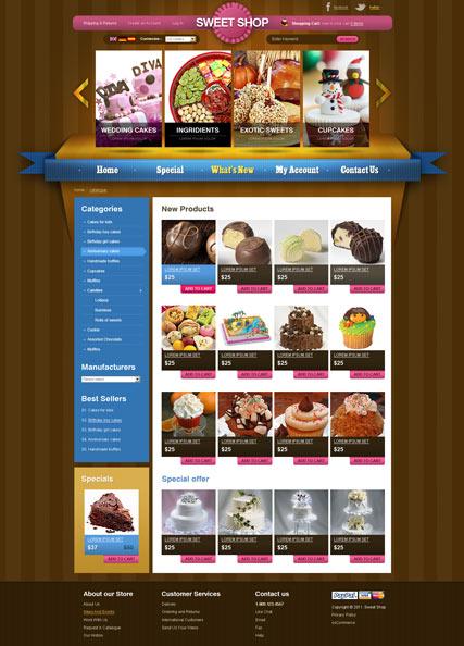 Sweets v2.3 Website Design
