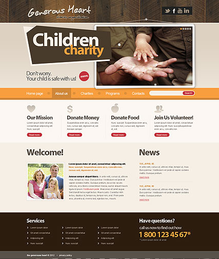 Charity v2.5 Website Design