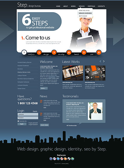 Design bureau v2.5 Website Design