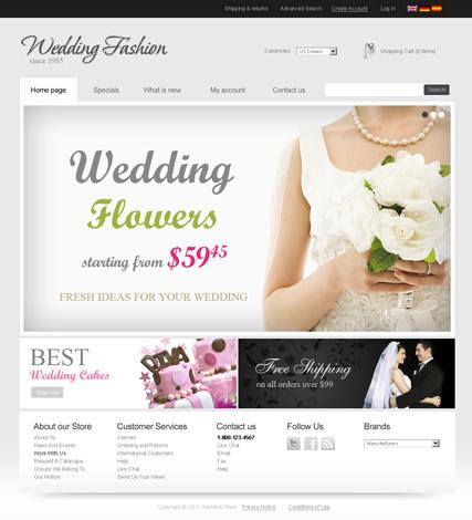 Wedding Store v2.3 Website Design