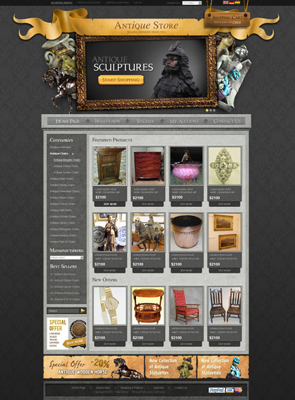 Antique Store v2.3 Website Design