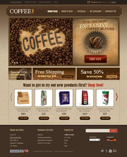 Coffee v2.3 Website Design
