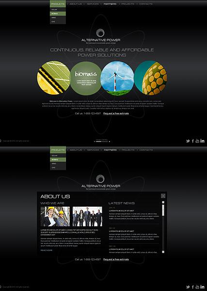 Alternative Power Website Design