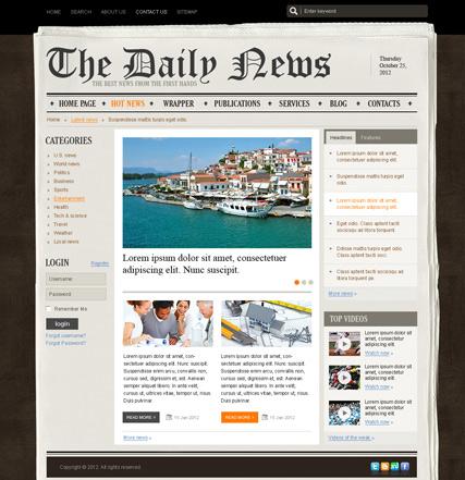 NewsPaper v2.5 Website Design