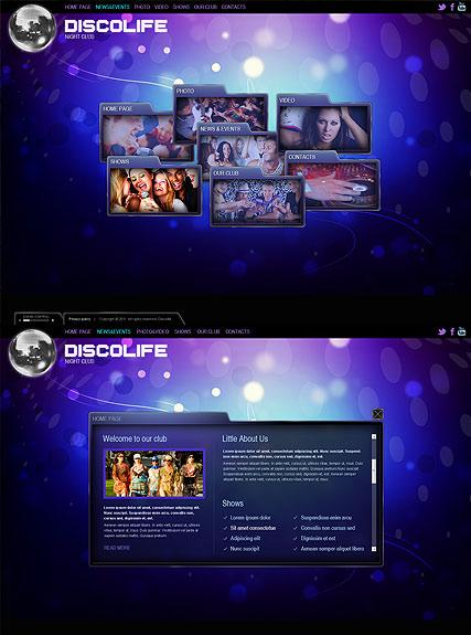 Disco Life Website Design