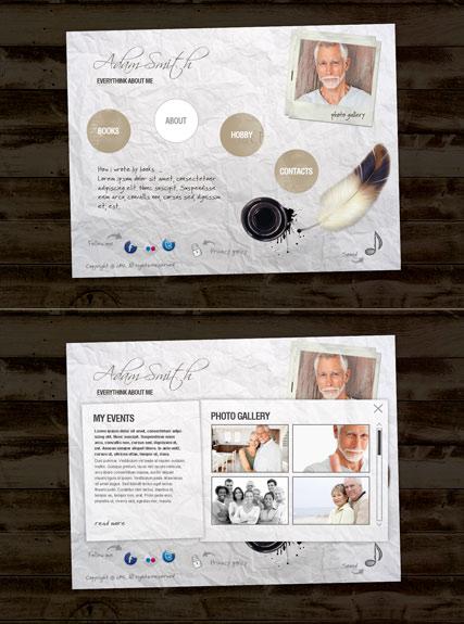 Writer Personal Website Design