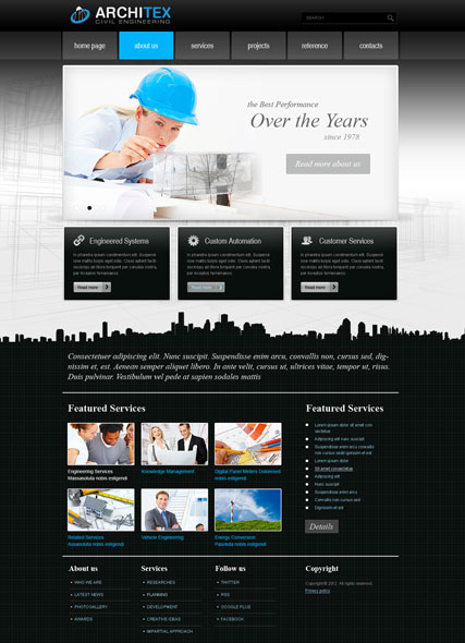 Architex v2.5 Website Design