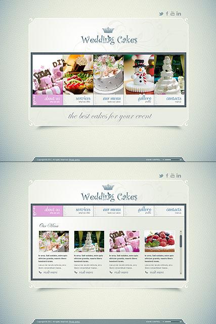 Wedding Cakes Website Design