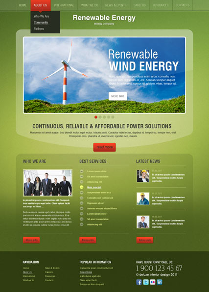 Energy co. v2.5 Website Design