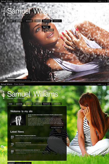 Photo Gallery Website Design