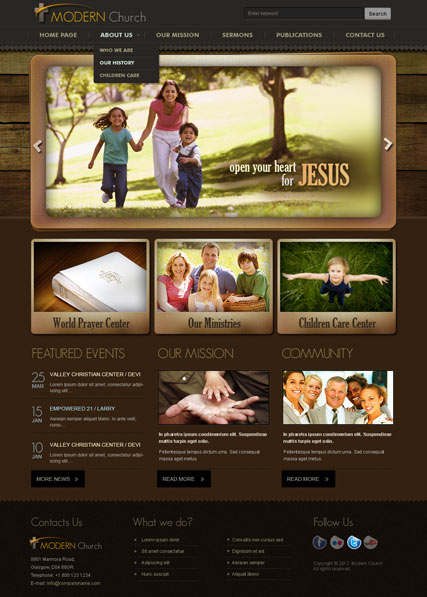 Modern Church v2.5 Website Design