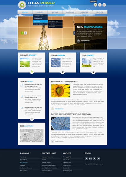 Clean Power v2.5 Website Design