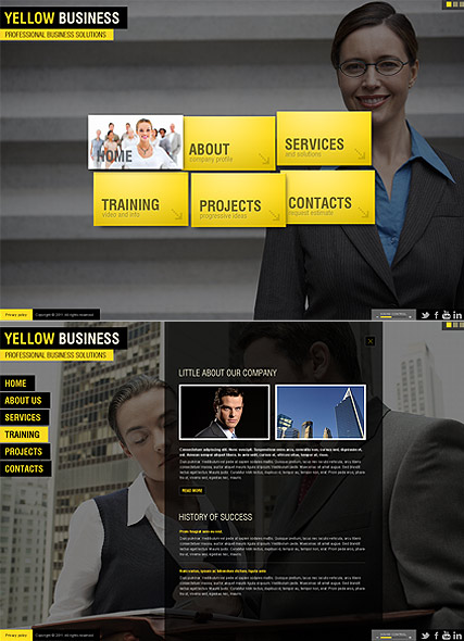 Yellow Business Website Design
