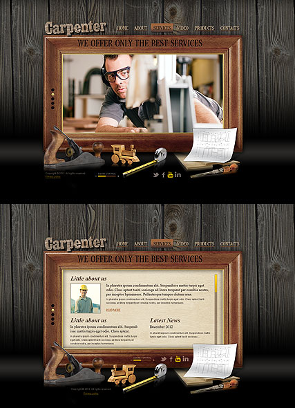 Carpenter Website Design