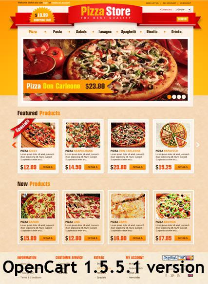 Pizza Store Website Design