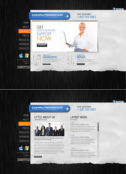 Computer Repair Website Design