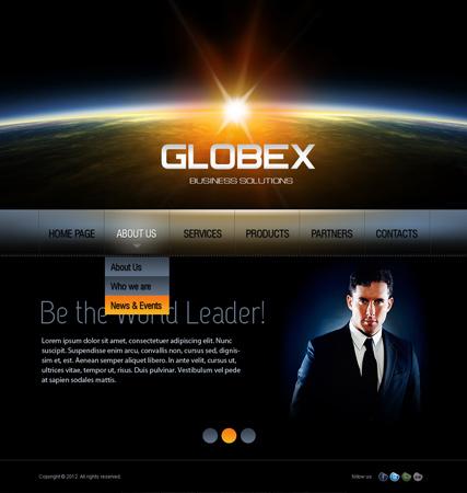 Globex v2.5 Website Design