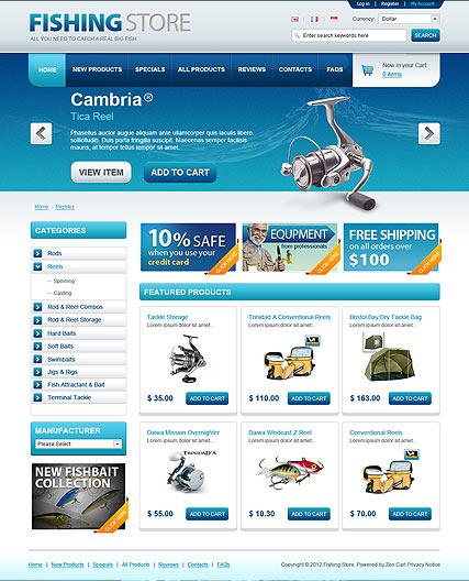 Fishing Store Website Design